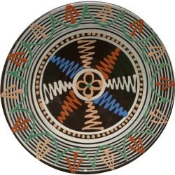 Tanier s motívom rôznych obrazcov, Pozdišovská keramika, Československo