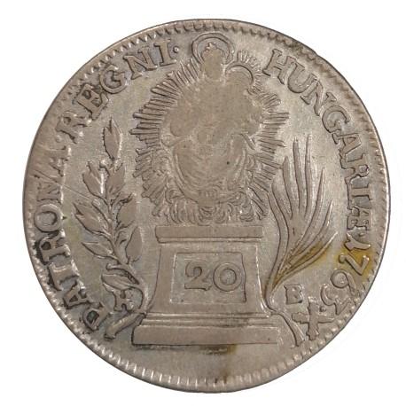 20 Kr 1763 K.B. - Mária Terézia, Rakúsko Uhorsko