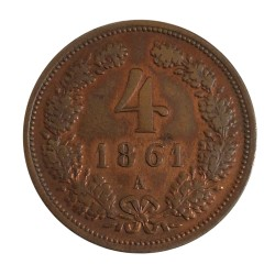 4 Kr 1861 A - František Jozef I. Rakúsko Uhorsko
