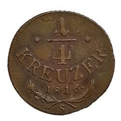 1/4 Kr 1816 S - František II. Rakúsko Uhorsko