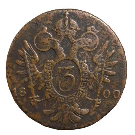 3 Kr 1800 G - František II. Rakúsko Uhorsko