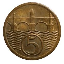 5 halier 1923, O. Španiel, Československo (1918 - 1939)