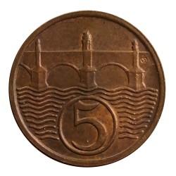 5 halier 1938, O. Španiel, Československo (1918 - 1939)
