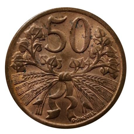 50 halier 1949, O. Španiel, Československo (1945 - 1953)