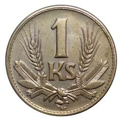 1 koruna 1945, A. Hám, G. Angyal, A. Peter, Slovenský štát (1939 - 1945)