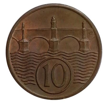 10 halier 1938, O. Španiel, Československo (1918 - 1939)