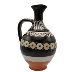 Pyskatý džbán na víno s motívom bodiek, Pozdišovská keramika, Československo