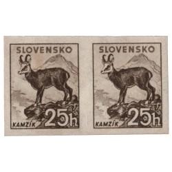 NZ 50Y N 25 h sivohnedá, 1940 Tatranské (malý formát), dvojpáska, overená GILBERT, **, Slovenský štát