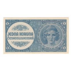 1 Kčs 1946, nevydaná bankovka, Československo, AU