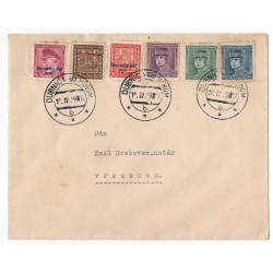 10. IV. 1939 Dubnica nad Váhom, modrý ŠTEFÁNIK, celistvosť, Slovenský štát