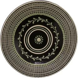 Hlboký tanier so zeleným dekorom, Pozdišovská keramika
