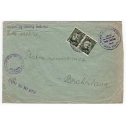 5. XI. 1940 Veľké Chrášťany, S.P., celistvosť, Slovenský štát