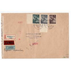 11. VI. 1941 Bratislava, LIETADLOM, doporučene, EXPRÉS, cenzúra, celistvosť, Slovenský štát