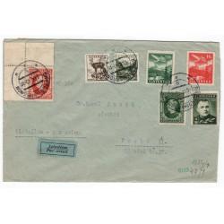 6. IX. 1940 Brezno nad Hronom, LIETADLOM, cenzúra, celistvosť, Slovenský štát