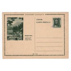 CDV 79/1 - Štrbské Pleso, 1945 strojová pretlač ČESKOSLOVENSKO, Martin Rázus, jednoduchý obrazový poštový listok