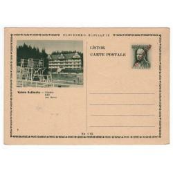 CDV 79/6 - Vyšnie Ružbachy, 1945 strojová pretlač ČESKOSLOVENSKO, Martin Rázus, jednoduchý obrazový poštový lístok