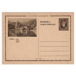 CDV 81/27 - Strečno - Hrad, 1945 strojová pretlač ČESKOSLOVENSKO, Andrej Hlinka, celina, jednoduchý obrazový poštový lístok