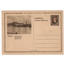 CDV 81/6 - Bratislava - Celkový pohľad, 1945 strojová pretlač ČESKOSLOVENSKO, Andrej Hlinka, celina, jednoduchý poštový lístok