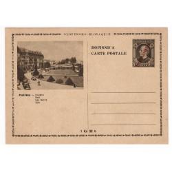 CDV 81/9 - Piešťany - Kúpele, 1945 strojová pretlač ČESKOSLOVENSKO, Andrej Hlinka, celina, jednoduchý obrazový poštový lístok