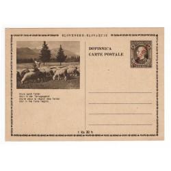 CDV 81/34 - Idyla zpod Tatier, 1945 strojová pretlač ČESKOSLOVENSKO, Andrej Hlinka, celina, jednoduchý obrazový poštový lístok