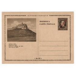 CDV 81/2 - Spišský hrad, 1945 strojová pretlač ČESKOSLOVENSKO, Andrej Hlinka, celina, jednoduchý obrazový poštový lístok