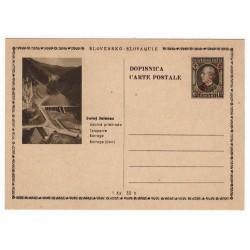 CDV 81/29 - Dolný Jelenec, 1945 strojová pretlač ČESKOSLOVENSKO, Andrej Hlinka, celina, jednoduchý obrazový poštový lístok