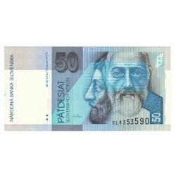 50 Sk 1993 C, 8. miestny číslovač, Slovenská republika, UNC