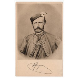 Jindřich Fügner 1822 - 1865, portrét, Sokol, pohľadnica