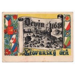 1946 - Slovanský deň, V. Hochštetský, pohľadnica, Československo