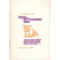 Katalóg SZF Česko-Slovensko 1990, V. Kučera a kolektív, Bratislava