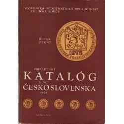 ZBERATEĽSKÝ KATALÓG mincí Československa 1978, Biľak - Jízdný, SNS Košice 1979