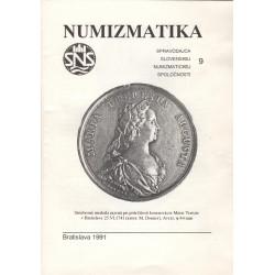 Numizmatika 9, Ústredný výbor SNS, J. Hlinka, Bratislava 1991, Československo