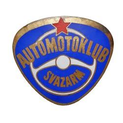 Automotoklub SVAZARM, smaltovaný bronzový odznak, Československo