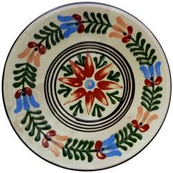 Stredný tanier s astrou, svetlý, Pozdišovská keramika, Československo