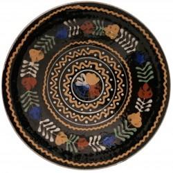Stredný tanier s kvetmi, Pozdišovská keramika, Československo