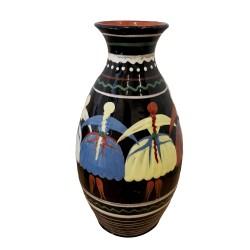 Váza s motívom karičky, Pozdišovská keramika, Československo