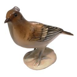 Vtáčik, vrabec, Royal Dux, porcelán
