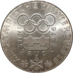 100 Schilling 1976, XII. Olympische Winterspiele - Innsbruck, Rakúsko