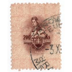200 Ks kolok, II. emisia 1942, hnedá, svetlo okrová, Slovenský štát