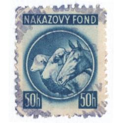 50 h - nákazový fond, modrá, Slovenský štát