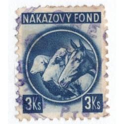 3 Ks - nákazový fond, tmavomodrá, Slovenský štát