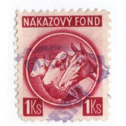 1 Ks - nákazový fond, červená, zúbkovanie 10 1/4, Slovenský štát