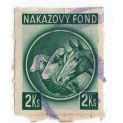 2 Ks - nákazový fond, zelená, strihaná, Slovenský štát