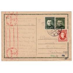 1940 CDV 8 - Jozef Tiso, cenzúra, celina, jednoduchý poštový lístok, Slovenský štát