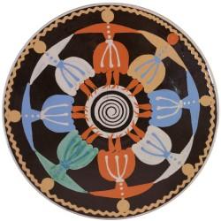 Hlboký tanier Karička, tancujúce dievčatá, Pozdišovská keramika, Československo