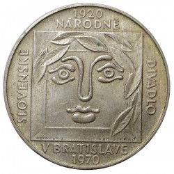25 Kčs 1970, 50. výročie Slovenského národného divadla, Československo (1960 - 1990)