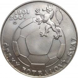 200 Kč 2001, 100. výročí založení Českého fotbalového svazu, Česká republika
