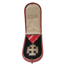 1922 - 1938 Rakúsko 1. republika, vyznamenanie Za zásluhy, pôvodná etue A. Reitterer, Rakúsko