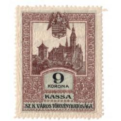 1913 - 9 korona KASSA, mestský kolok Košice, náklad 2 650 kusov, Rakúsko - Uhorsko
