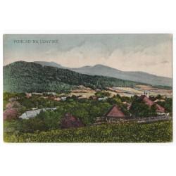 Udavské - pohľad, kolorovaná pohľadnica, Československo